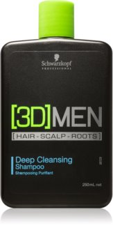 Schwarzkopf Professional [3D] MEN shampoo di pulizia profonda